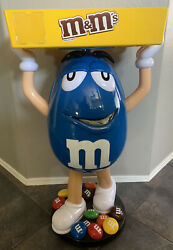 Rare Blue Mandm W/ Tray Candy Character Store Display