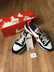 Vintage 1980andrsquos Nike Terra T/c White/black/red Shoes Sneakers Mens Size 11 Rare