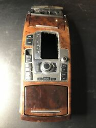 05-11 Audi A6 C6 3.2l Panel Center Console Radio Control With Mmi And Ashtray Oem