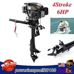 Outboard Motor 6hp 4stroke Heavy Duty Marine Shaft Boat Engine Air-cooling Cdi