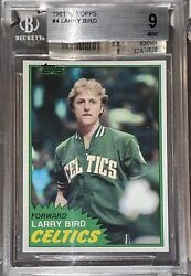 🔥1981 Larry Bird Topps Solo Rookie Card 4 Bgs 9 Old Label Only 7 Higher 1980