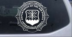 Department Of The Air Force Security Forces Badge Car Truck Window Decal Sticker