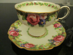 Paragon By Appointment To Her Majesty Queen Tea Cup Saucer Plate Tapestry Rose