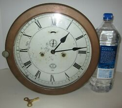 Antique American Schaeffer And Budenberg Brooklyn N.y Shipand039s Clock 14-day Rare