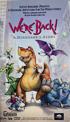 Weand039re Back A Dinosaurs Story Vhs 1994 Clamshell