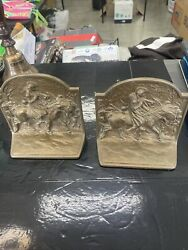 Vintage George Washington Bookends Cast Iron Valley Forge Pair