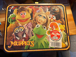 Vintage 1979 Fozzie Bear Muppets Metal Lunch Box And Thermos Jim Henson Rare []