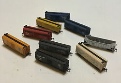 Group Of 9 Assorted N Scale Train Cars Marked Austria - Lot T31