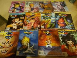 Dragonball Z Beckett Collector Magazine Lot 2002 Complete 12 Year Posters