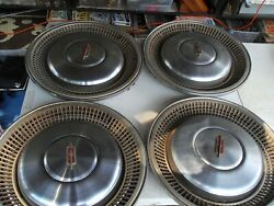 Four Very Rare Vintage 15 Oldsmobile Hubcap Heavy 5 1/2 Pounds Each