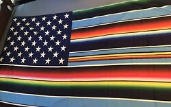NWT Large Tapestry Wall Hanging 69quot; X 38quot; Flag with stars style