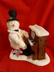 2005 Hallmark Jingle Pals Piano Snowman Plush Plays Moves Sings And Lights Up