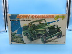Battery Operated Army Command Jeep. Used, With Box.