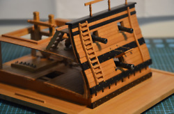 Lily 1/48 Double Deck Scene Of Ancient Sailing Ship Kit Deck Gun Model Pear Ver