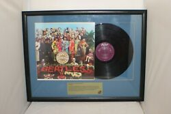 The Beatles Vinyl Sgt. Pepper's Lonely Hearts Club Band Framed Now That's Music