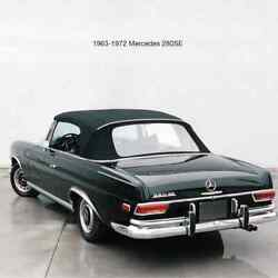 Convertible Top For Mercedes 220se-300se W111 1962-1971 Gray Lining Blue-tan
