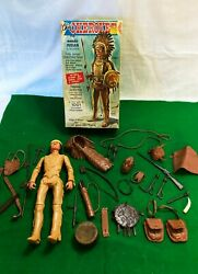 Marx Chief Cherokee Johnny West 1960's Action Figure With Lots Of Acc.