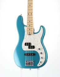 Fender American Elite Precision Bass Ocean Turquoise Used Electric Bass