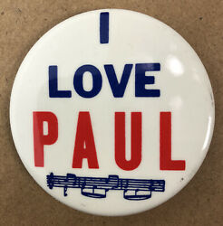 The Beatles - I Love Paul Button Pin 2 Collectible Pin Button Made In Usa