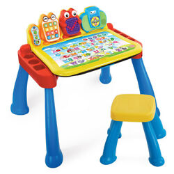 Vtech Touch And Learn Activity Desk Deluxe With Easel And Chalkboard