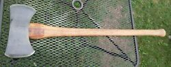 Vintage True Temper Kelly Works Red Warrior Double Bit Axe With Handle 4 Lbs 14