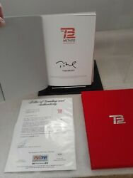 Tom Brady Autographed Tb12 Book Grade 10 Psa Authentication With Case