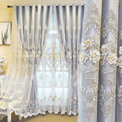2021 Luxury Embossed Double Blackout Curtains For Living Room And Bedroom