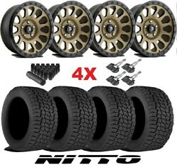 Bronze Wheels Rims Tires 265 70 17 At Nitto Terra Grappler Package Fuel Vector