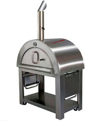 New Xl Size Wood Fired Outdoor Stainless Steel Pizza Oven Bbq Grill  44 Wide