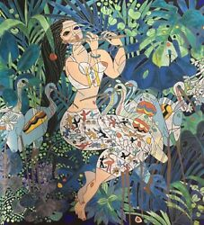Tie-feng Jiang.  Emerald Forest.         Serigraph On Paper    Ba