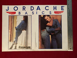 Jordache Basics Foxmoor Woman's Jeans 2-page 1989 Print Ad - Great To Frame