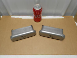 Real 1960s Micky Thompson 6 5/8 Aluminum Valve Cover Breathers M/t Angle Mount