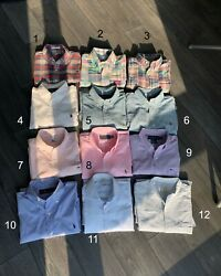 Lot Of 12 Shirt, Size S, 14.5-15 Polo, Suitsupply, Lacoste, Brooks Brothers, J