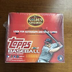 2012 Topps Update Baseball Golden Giveaway Sealed Box - Possible Autos And Relics