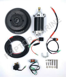 Electrical Start Conversion Kit For Yamaha 2 Stroke 40hp Outboard Model 66t