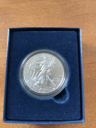 2013 American Eagle 1 Oz 99.9 Silver Uncirculated Burnished Coin Coa Ogp
