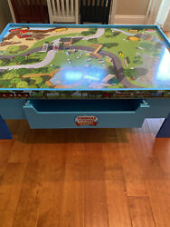 Thomas The Train Wooden Railway Play Table W/ Trains And Accessories