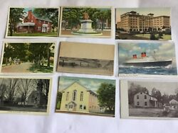 Postcard Dealer Lot Of 36 Cards Iincluding 1 Black Americana And 1 Private Mailing