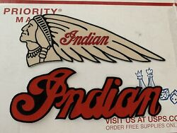 Lot Of 6 - Indian Motorcycle Embroidered Patches