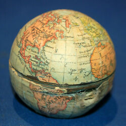 An Antique Globe Form Travelling Inkwell Vienna Made Good Condition