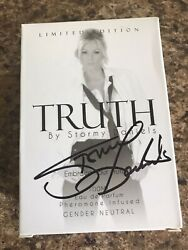 Autographed Stormy Daniels Truth Gender Neutral Perfume Cologne Spray 100 Ml New