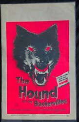 Hound Of The Baskervilles Original Hammer Usa Window Card 1959 22 X 14 Inches