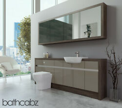 Bathroom Fitted Furniture Metallic Latte Gloss/mali Wenge 2100mm H1 With Wall Un