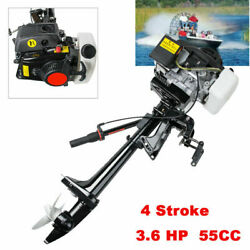3.6hp 4stroke Heavy Duty Outboard Motor 55cc Boat Engine+air Cooling System Tool