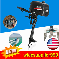 3.5hp 2 Stroke Outboard Engine Motor Kayak Boat Cdi And Water Cooling System Usa