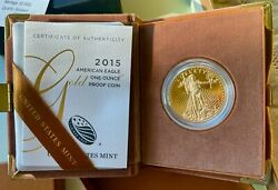 2015 American Eagle Gold 50 Coin 1 Ounce Proof In Original Box And Coa