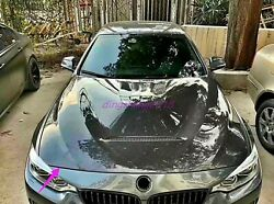 Carbon Fiber Front Hood Vented Bonnet Cover For Bmw 3 4 Series F30 F32 F33 F35