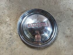 Single 1 1949 1950 Vintage Dodge Hubcaps Wheel Cover 15 Inch With Red Detail