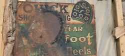 Vintage Goodyear Shoes Metal Sign
