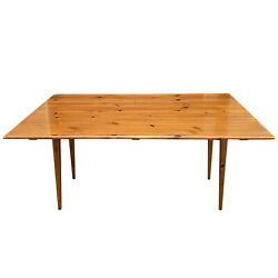 Ethan Allen Country Craftsman Rustic Pine Drop Leaf Harvest Dining Table 19-9305